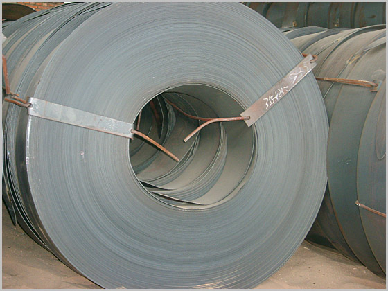 GB/T 700 Q195 / Q235 / Q345 Hot Rolled Steel Coils / Strip With 145 - 630 MM Width